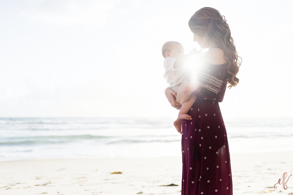 San Diego Portrait Photography | Mommy and Me | Photo Shoot | Beach