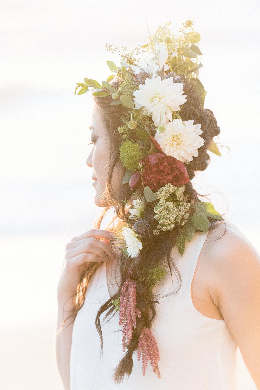San Diego Portrait Photography | Flower Crown | Solana Beach | Tulle Skirt