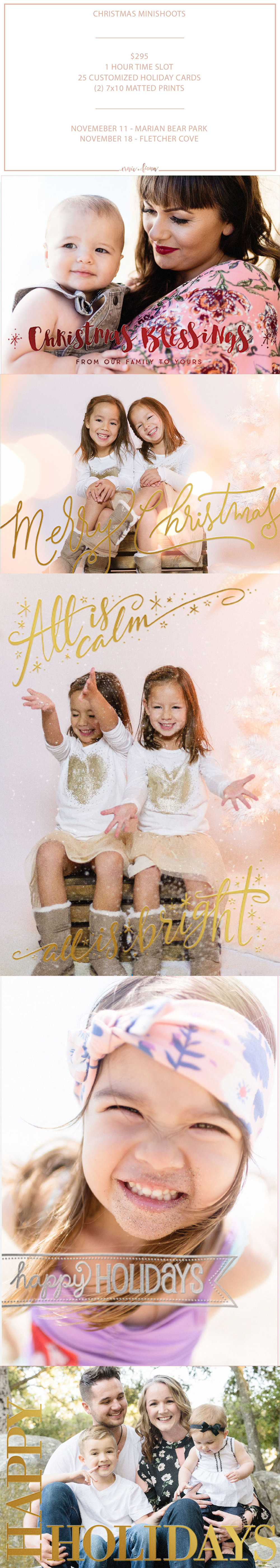 San Diego Portrait Photogrpahers | Christmas Mini Shoots | Christmas Photos