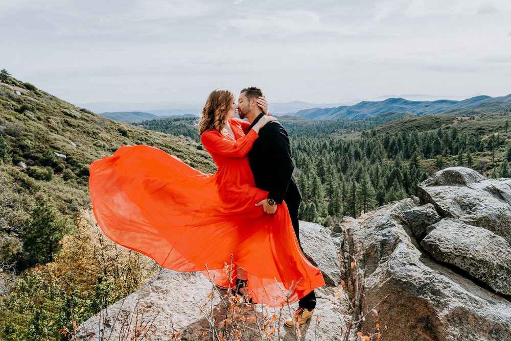 Here is a beautiful shoot in the mountain! Check out the romance and view!
