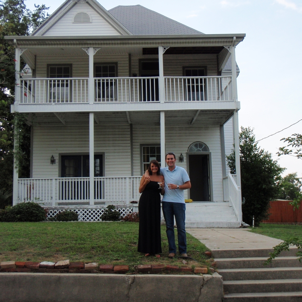The day we closed on the house in 2009