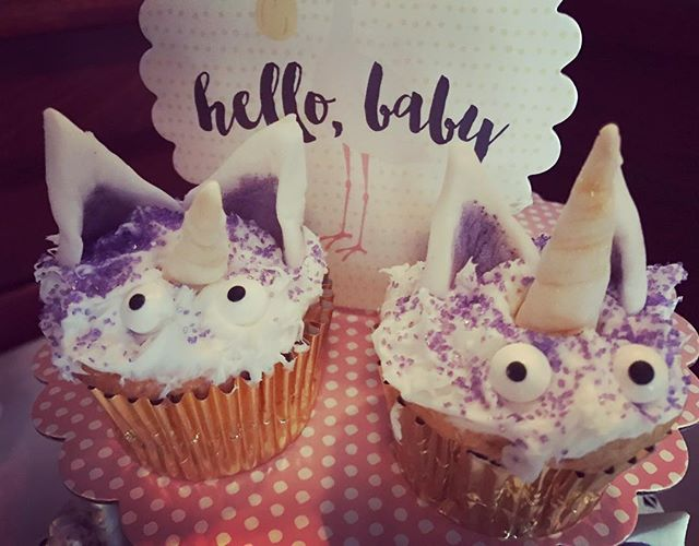 #unicorn cupcakes from a fun baby shower today @standrewsnyc !! Happy weekend, everyone!! 🦄🦄