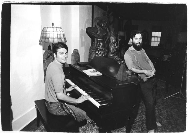 David Komito and Michael Shoemaker at Rudi's.
