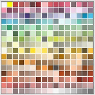 Following the previous post I converted Lost Property into a colour table on Photoshop. This is what the whole book looks like as 256 colours. #colournerd #colour #comics