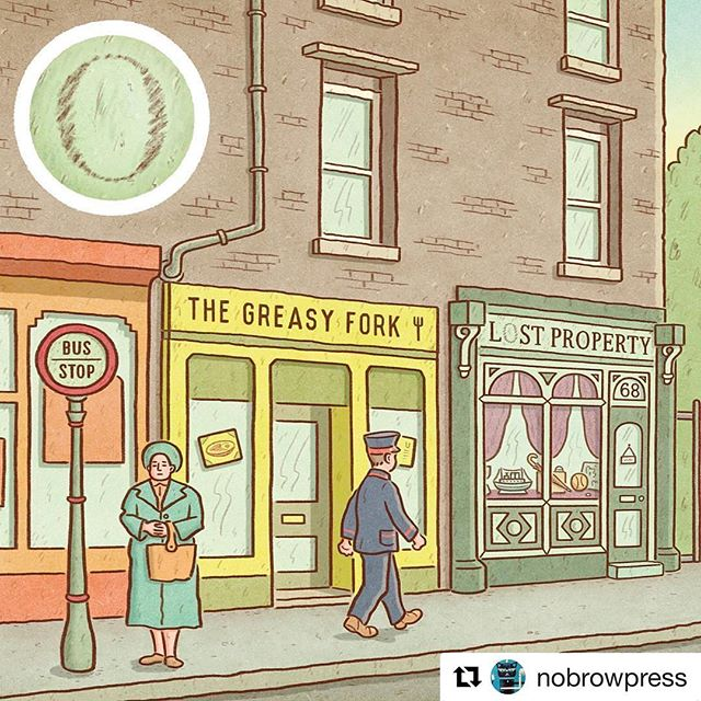 #Repost @nobrowpress ・・・ Tomorrow it's #SmallBusinessSaturday in the U.K., so get down to your local high street and support your small businesses. Also, buy some books! Take a photo, post it, and tag us and your bookshop for a chance to win some hot new Nobrow & @FlyingEyeBooks titles. • Image from Lost Property by @ajpoyiadgi • #LostProperty #AndyPoyiadgi #SmallBusiness #Bookshop #Books #Illustration #Comic