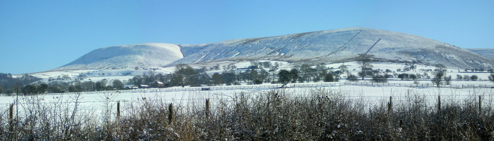 Pendle Hill in Snow