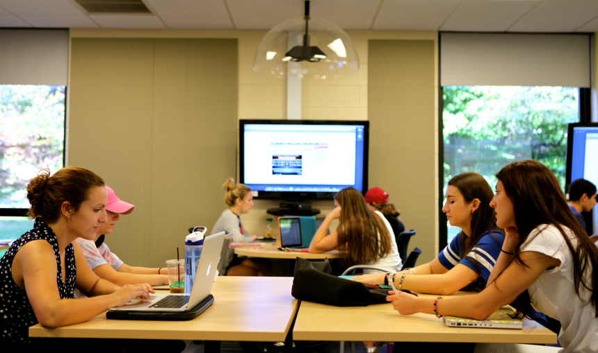 Students Work in the New Collaborative Learning Center