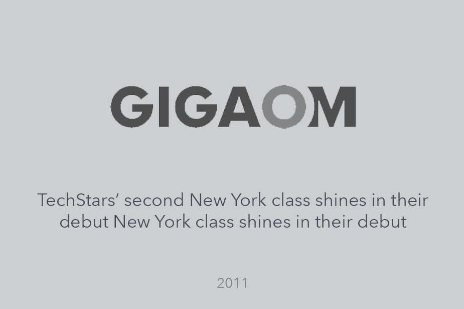 Gigaom Reports on Welcome Shining in Techstars NYC Debut - Article