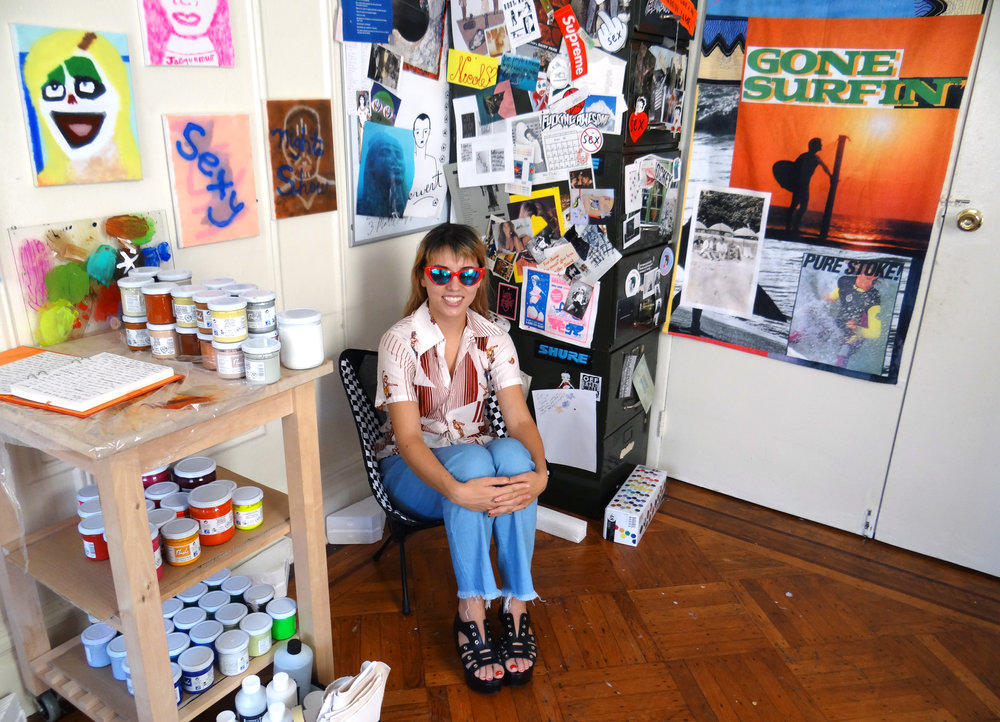 Nicole Reber in her studio