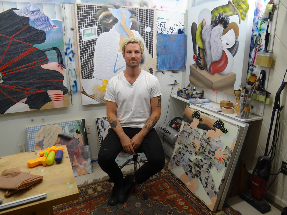 Christian Little in his studio