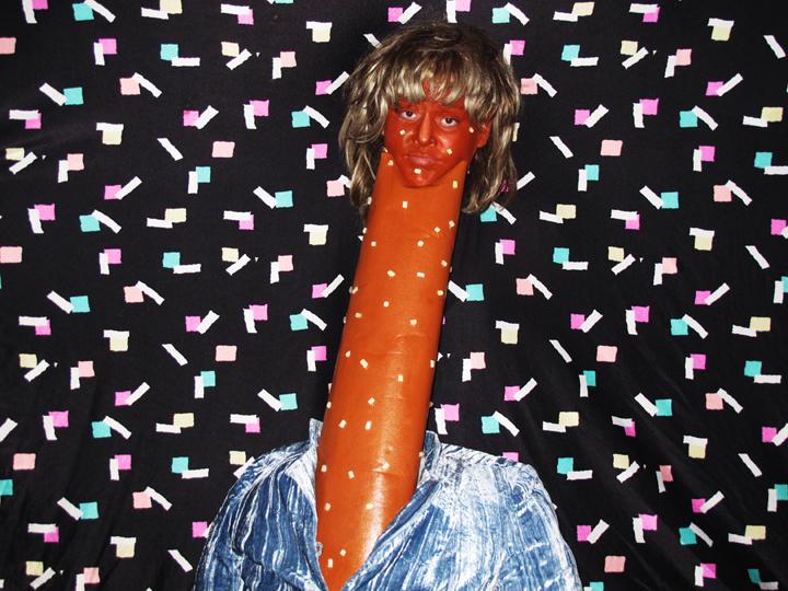 Self-portrait as Pretzel Rod Stewart by breadpeople