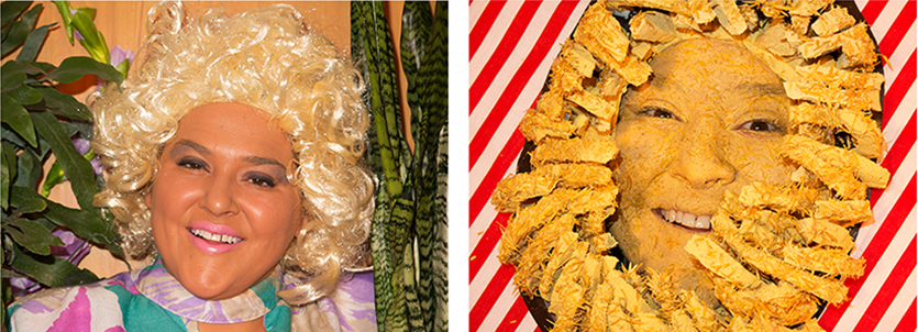 Self-portrait as Anne Burrell/ Self-portrait as Bloomin Onion in Anne Burrell Totally Looks Like an Outback Steakhouse Bloomin' Onion by unknown.