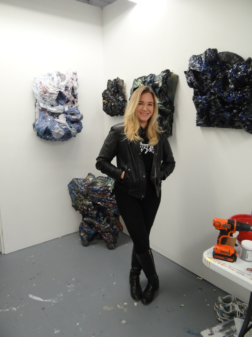Calli Moore in her studio