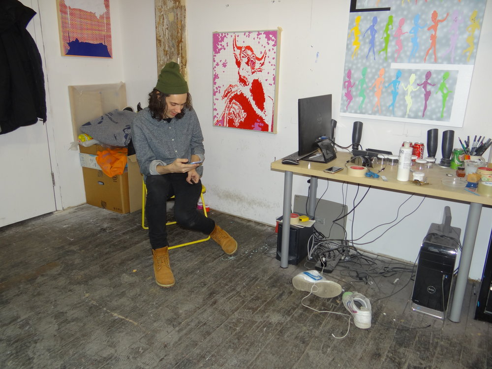 Michael Dotson in his studio