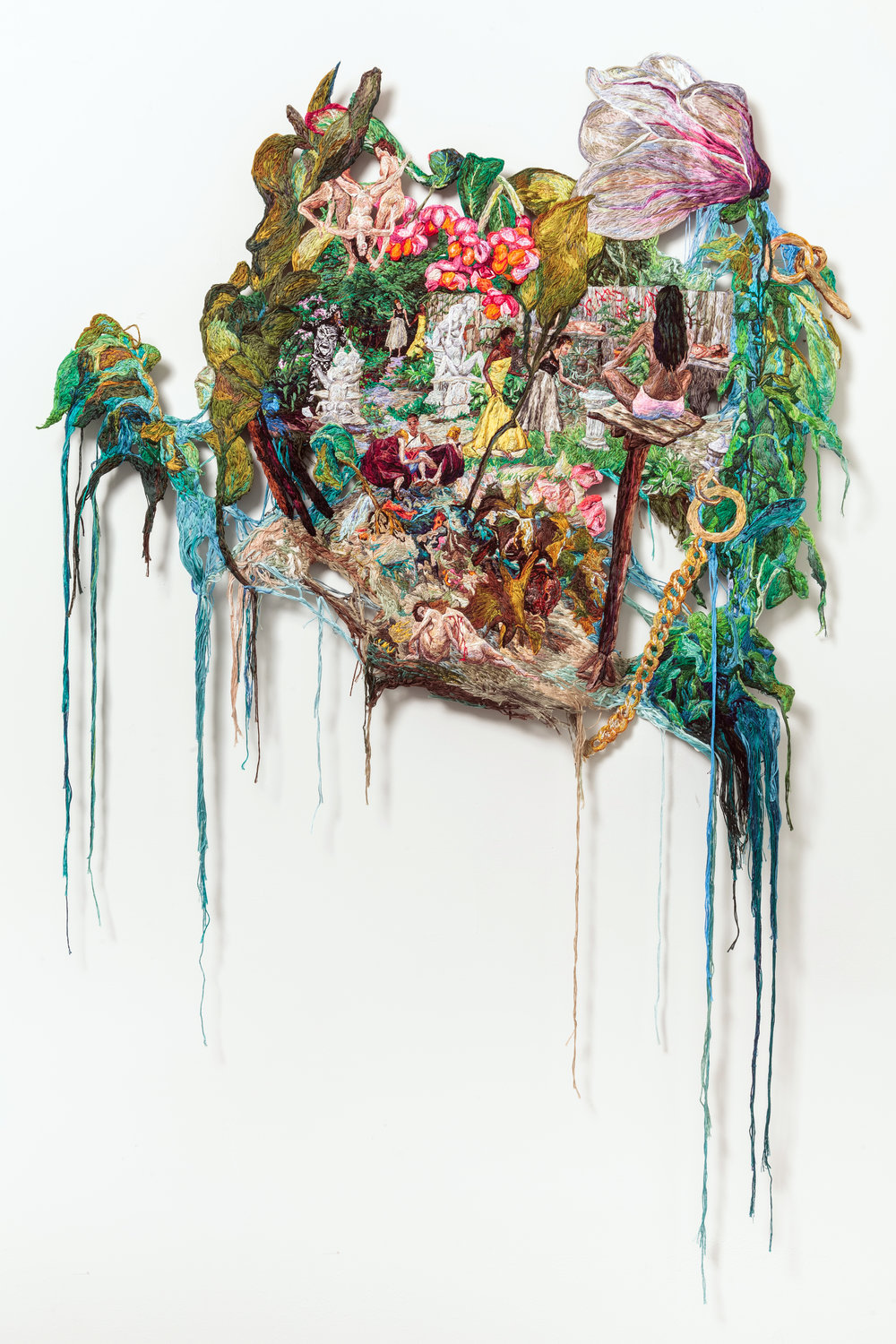 Stars Align, Sophia Narrett, 2014-15, Embroidery Thread and Fabric, 33 x 48 in.jpg