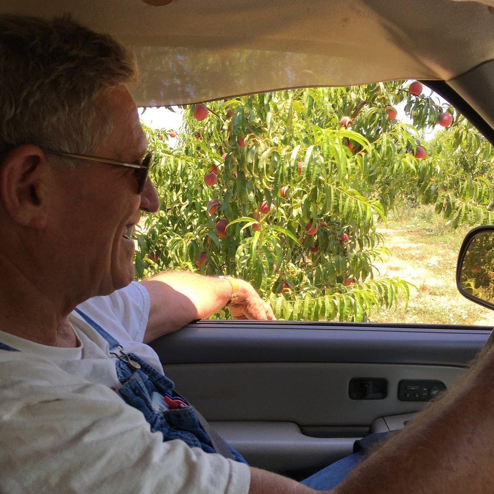 Farmer Al drivin us around