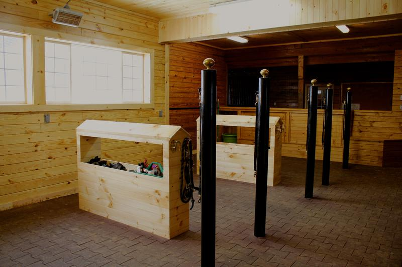 Tack stalls with rubber flooring & heaters