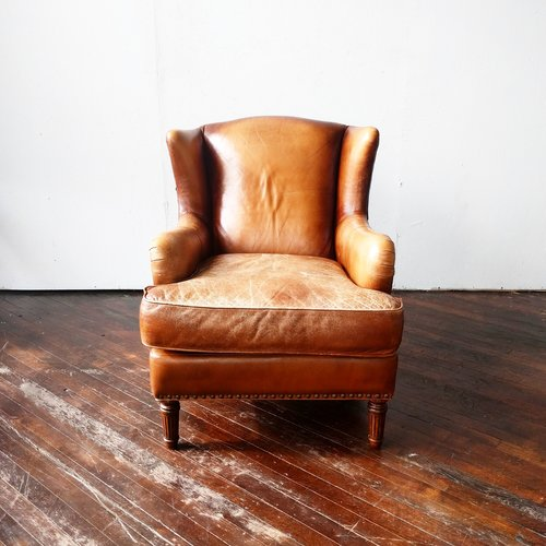hemmingway leather wingback armchair - Leather Wingback Chair