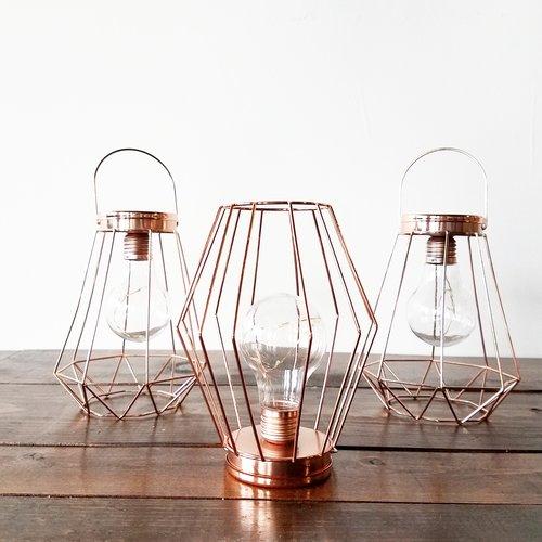 Copper Wire LED Lanterns — Something Old Dayton