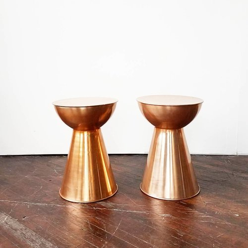 Copper Drum Tables Something Old Dayton - Copper drum coffee table