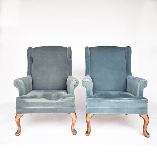 blue wingback chair. Billy - Blue Wingback Chairs Chair R