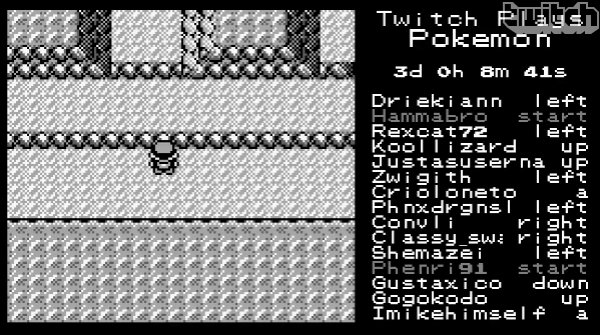 I haven't posted anything in a little bit, and this is in no way music related but I have been laughing at this for a solid 10 minutes now. Thousands of people all trying to control the same character in the same game of Pokemon Red. A thing of beauty.     There Are Thousands of People Trying To Play The Same Game of Pokemon (UPDATED)
