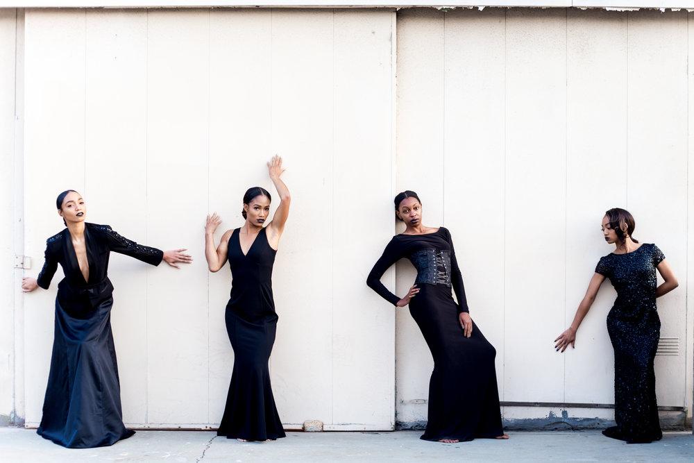 Models: (r to l) AudrreJ, AshleyClarque, Arielle Simonee & AkiaJaudon      Styled by: Tatiauna B Styles     Email:tatiaunabstyles@gmail.com      MUA: Keonna J. Email:keonnajonesmua@gmail.com