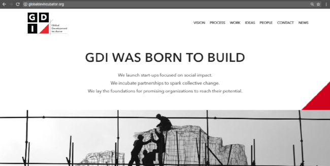 Client: Global Development Incubator Agency: Emergence Creative Copywriter: Liz Goode Graphic Design: Fre Sonnevel UX Design: Johanna Santos Bassetti