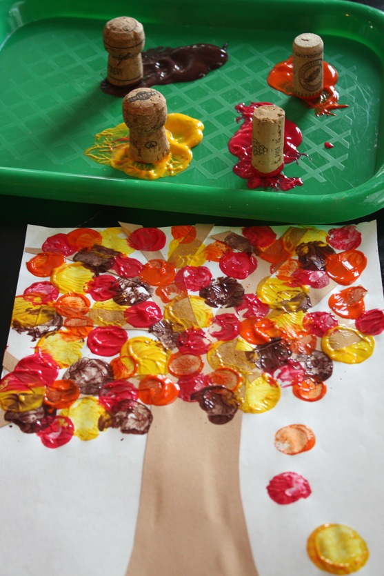 Cork painting -