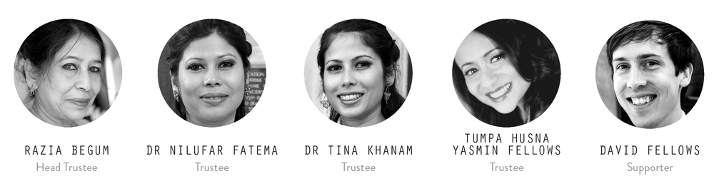 Other Supporting Members:   Mrs. Jahan Ara,  Mr. Sharfuddin Ahmed Chowdhury, Ms Alex Ford (Graphic Designer and Branding Consultant),