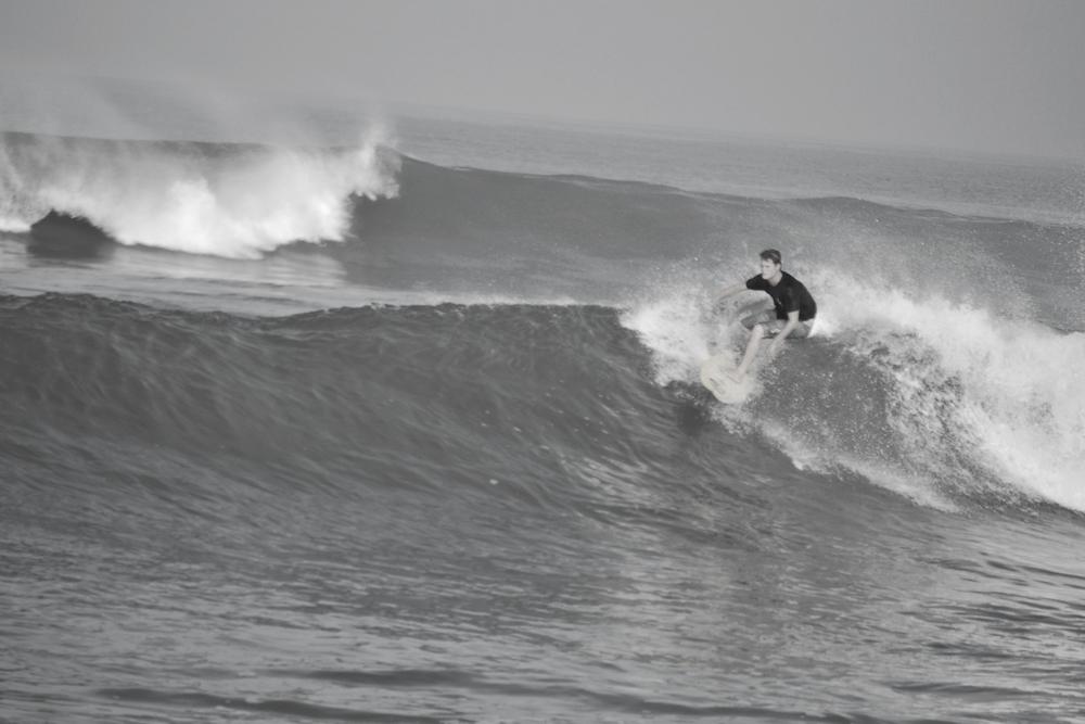 Steve surfing Echo Beach, Canggu, Bali, Indonesia.