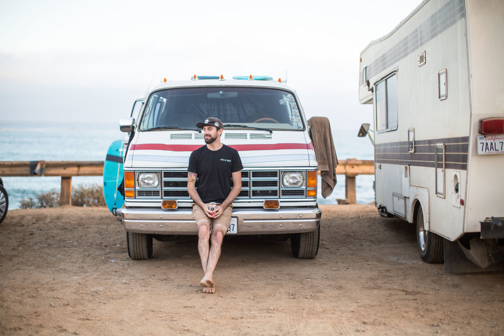 Ben and his new van, Ruby.  Photo by Todd Westphal