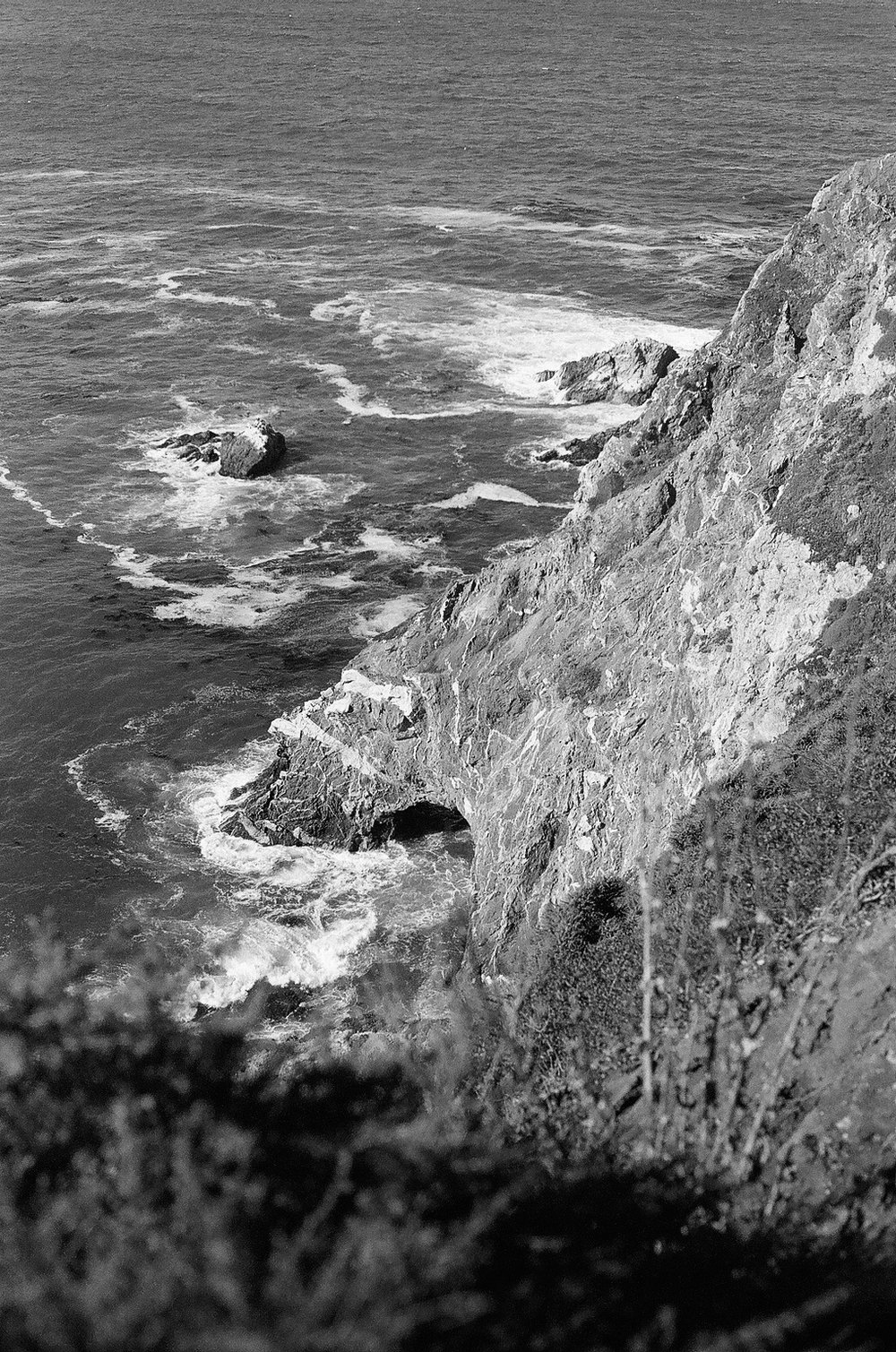 Everyone that goes to Julia Pfeiffer Burns State park gets shots of the waterfall. I decided to climb down to the beach and get a different perspective. My favorite shot came from the backside of the sketchy climb down, an image most have probably never seen.