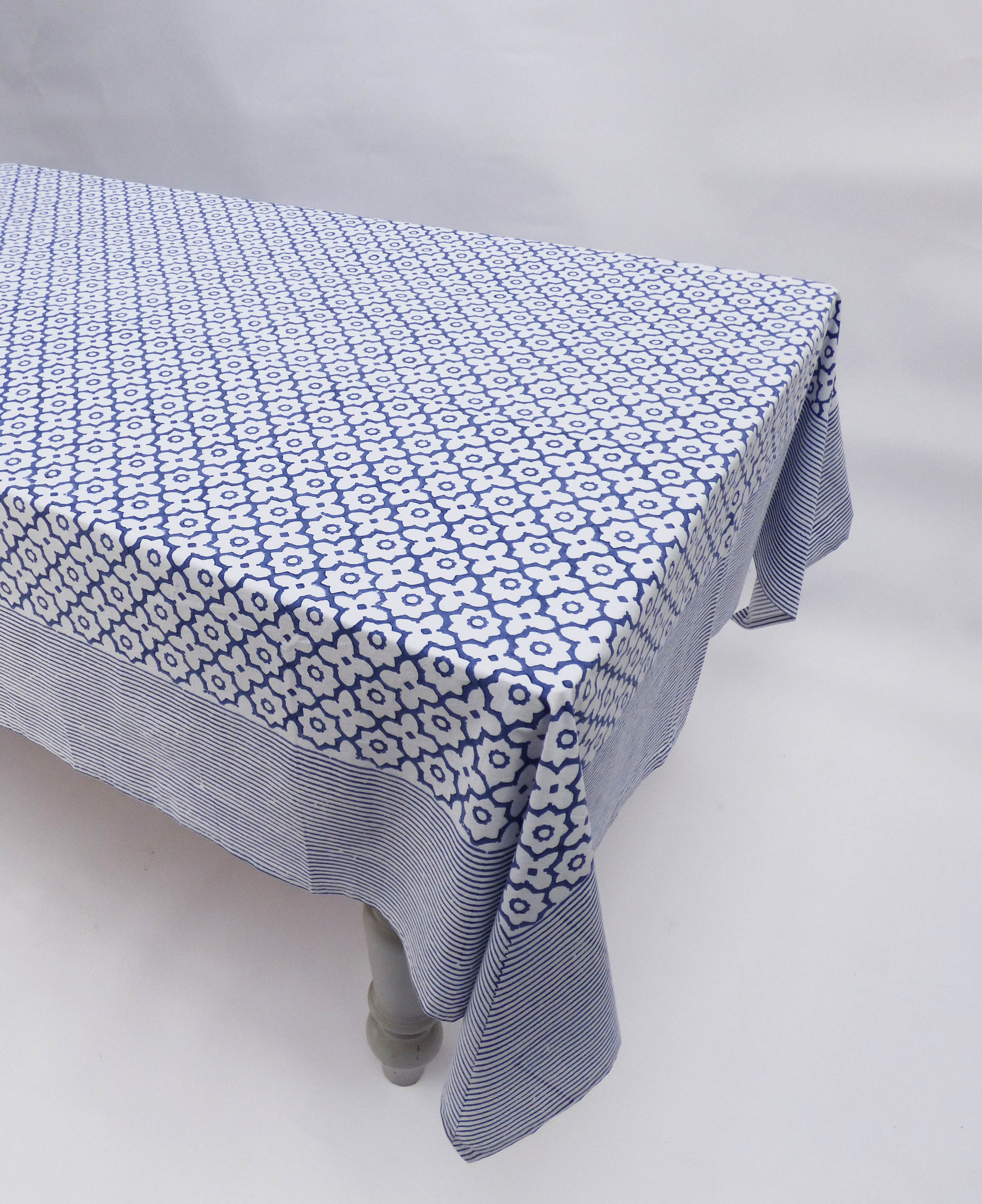 Morocco Design Cotton Tablecloths In Blue