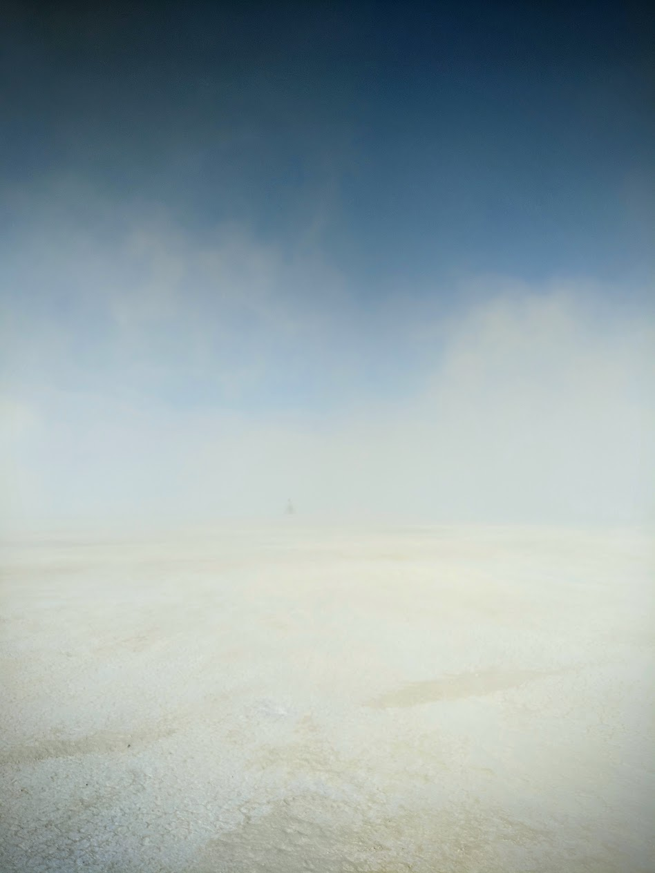 the surreal beauty of a brief dust storm.