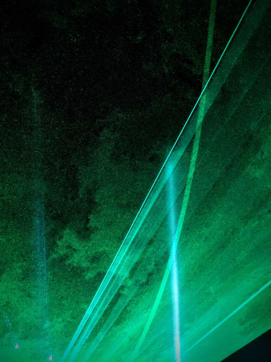 mayan warrior's lasers remind us all just how much dust we're soaking in.