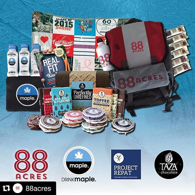Regram :: Click Over to @88acres. They are giving away over $250 in Fantastic Prizes to one lucky winner from @TazaChocolate @ProjectRepatUSA and @DrinkMaple. Though we especially like the Heather T-Shirt. #ShopLocal #Giveaway #WinterWellness #MadeInBoston