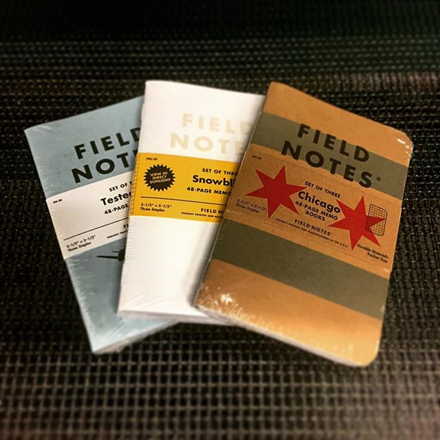 We can never have too many of these around the shop. Good thing these three arrived today. @FieldNotesBrand #FieldNotes #SilkScreenPrinting