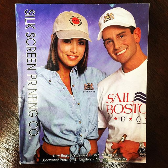 Throwback :: When's the last time you browsed through a print catalog? If it was 2001, these would have been hot off the press. #SilkScreenPrinting #2001 #Archive #TBT
