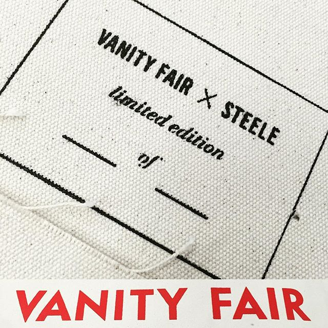 Daily Print :: We can't reveal much, but glad to help two of our favorite clients with a little collaboration. @vanityfair @steelecanvas #VanityFair #RedCarpet #LimitedEdition #SilkScreenPriting
