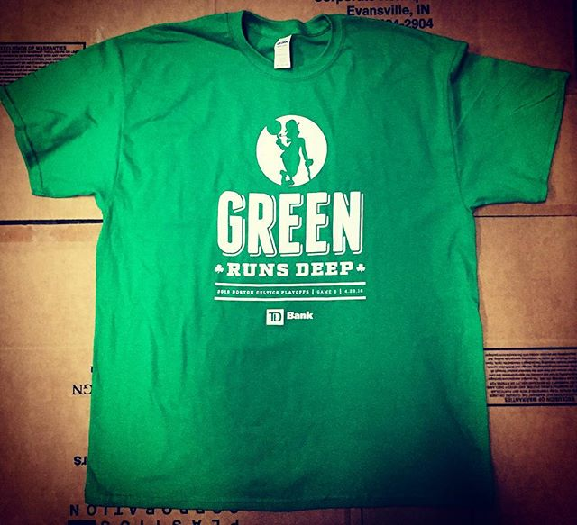 Daily Print :: Are you ready for tonight's game? #GreenRunsDeep #Celtics #SilkScreenPrinting