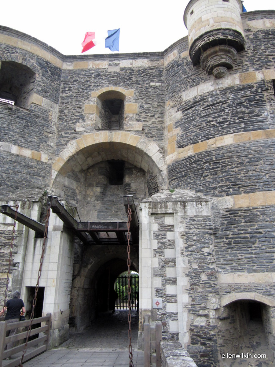 Draw bridge entrance to the Chateau d'Angers.