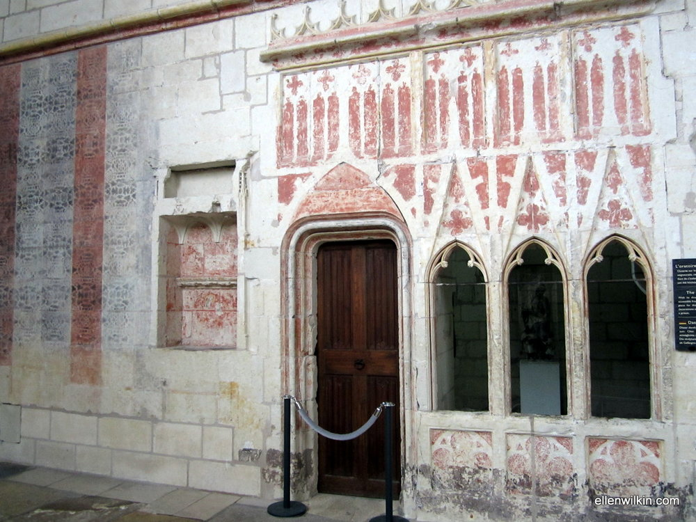 """The Duke's """"mini"""" chapel inside the larger church at the Chateau d'Angers."""