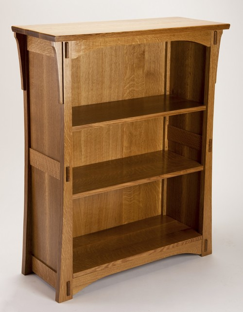 mission style bookcase glass doors with drawers