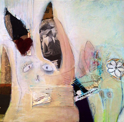 This rabbit has a story. Mixed Media. Close Up.