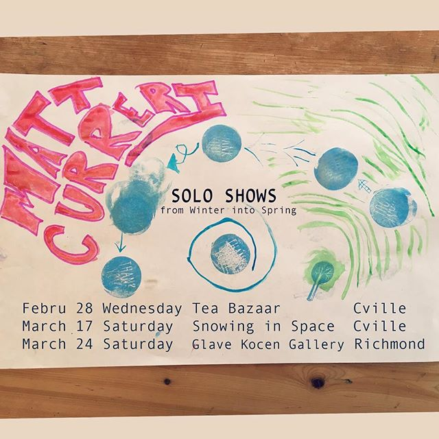 Solo Shows from Winter into Spring. Stamps by Little Harper, interpretation by Matt.