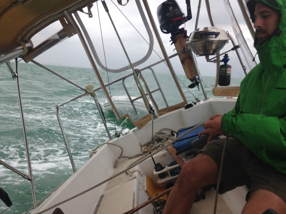sailing in bad weather