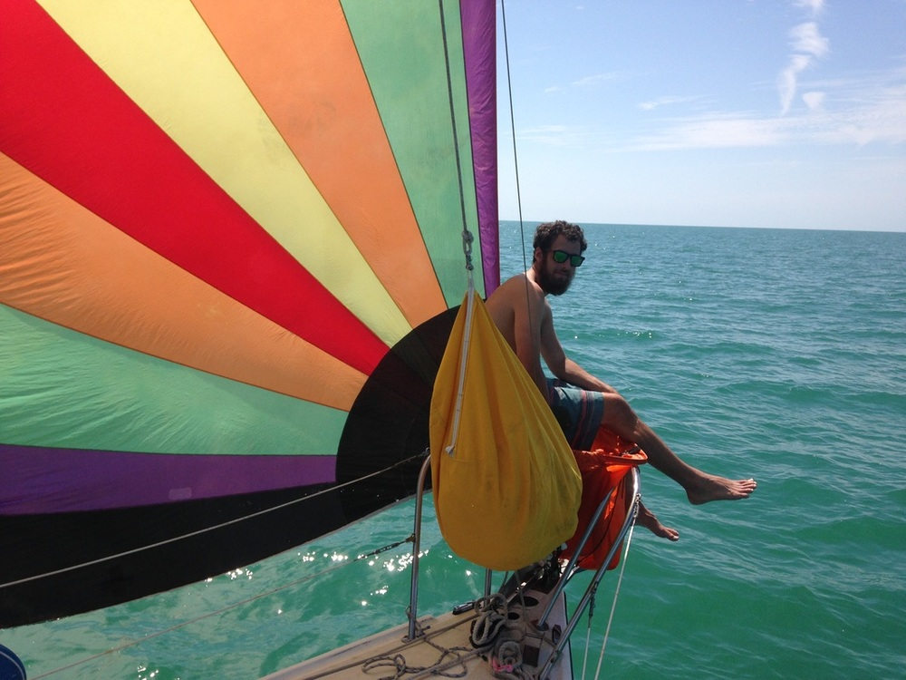 colorful spinnaker