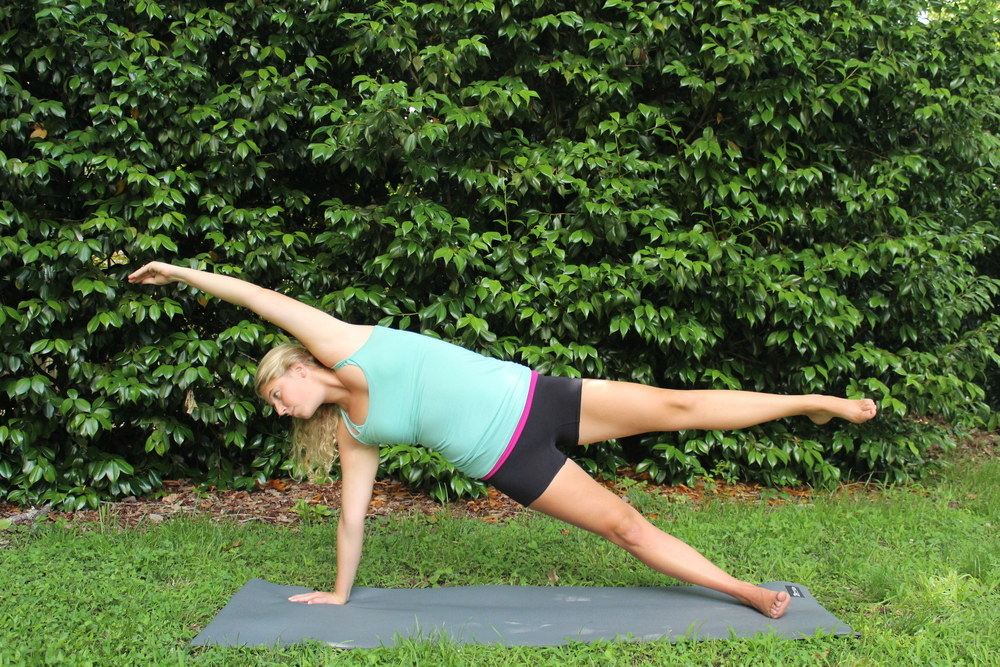 Yoga side plank variations
