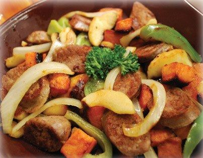 Applewurst Sweet Potato Skillet Recipe